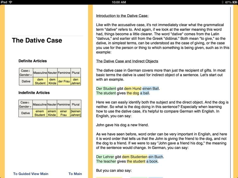 German Language iPad App - 20130195 - University of Minnesota ...
