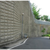 A retaining  wall's tilt can easily be monitored with this technology