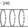 Laser-modified circular rings along the length of the wire