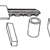 Drawing of a side viewofadeusesiJicou-based ceramic stmcl1lre of the present invention