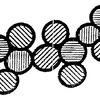 Schematic diagrams showing the Zr02 45 nanocrystallites forming loose-aggregates