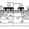 Cross sectional-view of a dual polarity ESD device according to various embodiments of the invention