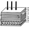 Schematic of a photovoltaic and thermoelectric hybrid cell