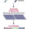 Advanced lithium-ion battery that self-assembles using viral particles