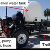 The trailer-based, diesel motor powered hot water apparatus