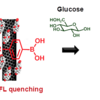 SWNT modified with boronic acid and for glucose detection.