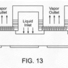 FIG. 13 is a cross-sectional view of the membrane-ridge device layer is SiC substrate bonded with the liquid-vapor microchannel device layer in Si substrate.