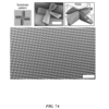 CNT microstructure with complex geometry resembling macro-scale propellers, grown on an offset cross-shaped SiO2 feature on TiN substrate