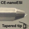 tapered tip nanoESI capillary electrophoresis mass spectrometer interface