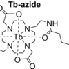 Lanthanide-chelated, azide-containing probe with terbium