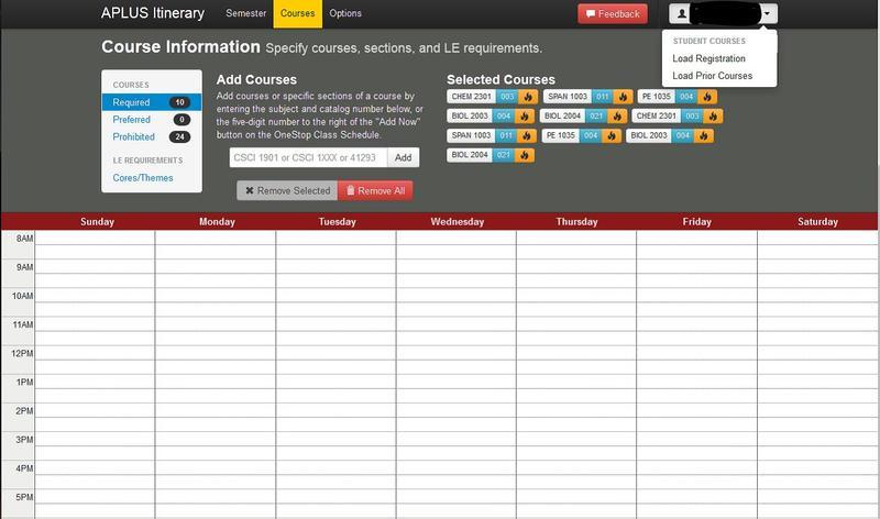 University Class Schedule Generator: Chronos - 20130012