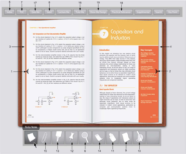 Interactive Electronic Textbook for Teaching Electrical Circuits