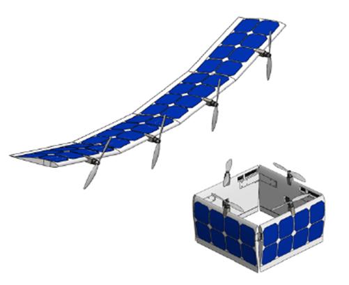 UAV Transforms between Fixed-wing and Quad-rotor Mid-flight